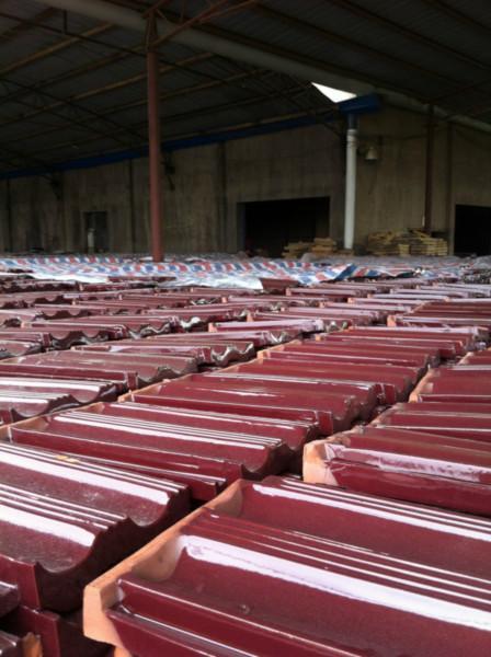 供应安徽生产玫红瓦厂家、玫红琉璃瓦价格、玫红双筒瓦厂家