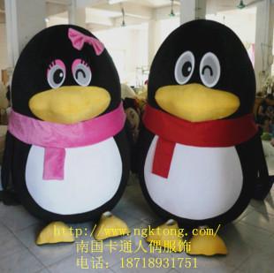 企鹅_企鹅供货商_供应动物人偶qq卡通行走服装qq企鹅