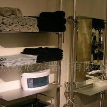 供应广州美容美发展架天地柱、镜台设计、产品陈列架