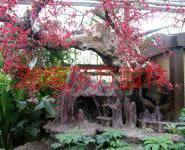 广州水泥假树施工图片