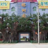 江苏东方园林景观假树施工图片