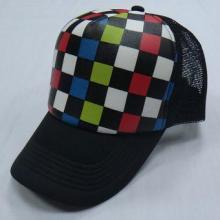 帽子工厂 韩版时尚格子图案网帽