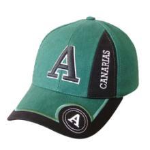帽子工厂 可来图来样定做各类帽子棒球帽 绿色精美字母刺绣棒球帽