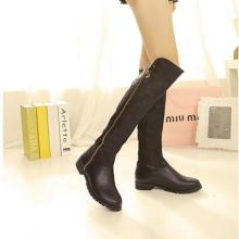 供应美丽街蘑菇说2013秋冬新款欧美平底高筒靴侧拉链长靴骑士女靴子