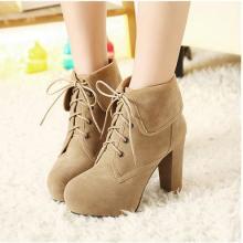 供应女鞋韩版新款高跟短靴子时尚粗跟靴秋冬女靴子短靴2013秋冬靴