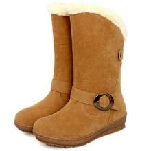 供应2013新款秋冬女鞋女靴中跟坡跟雪地靴皮带扣套筒中筒靴舒适女靴子