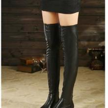供应2013秋冬新款女鞋圆头方根过膝女靴瘦腿长靴子中跟弹力包腿套筒靴