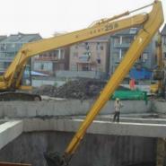 挖掘机20米优质加长拆楼臂掏河臂图片