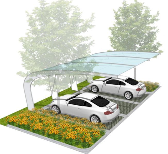 供应高端大气上档次的停车棚,高端大气上档次的停车棚效果图、施工图
