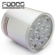 新款12W银色LED明装筒灯特价促销图片