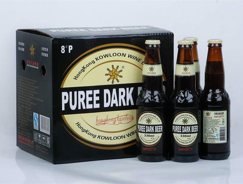 香港九龙330x12礼盒黑啤8度销售