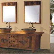 纯木色浴室柜图片