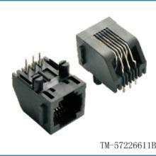 6P梯形电话PCB插座RJ11电话接口