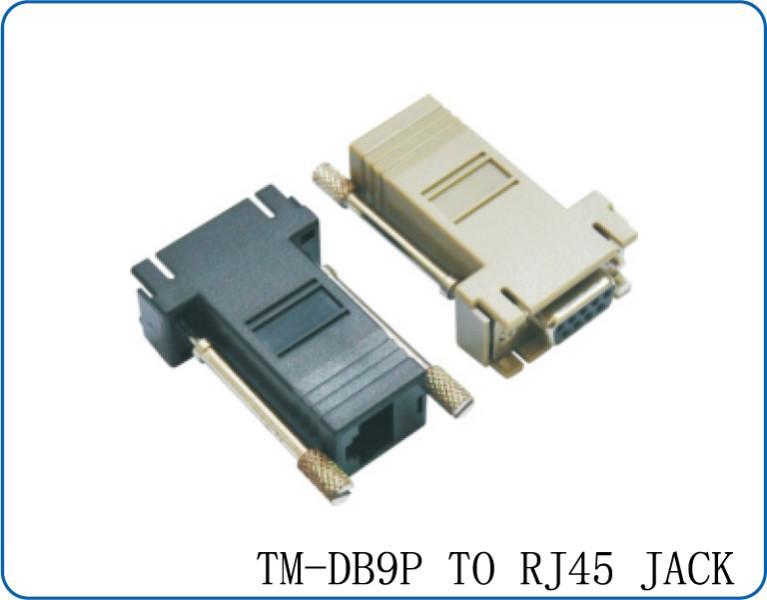RJ45电脑转接器DB9转接头