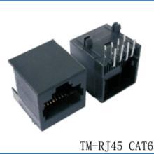 RJ45CAT6网络连接器PCB插座网口