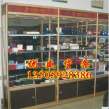 供应南安精品钛合金货架玻璃柜服装柜美观大方批发