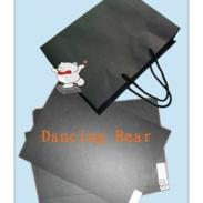 250G跳舞熊黑卡A级透心卡纸图片