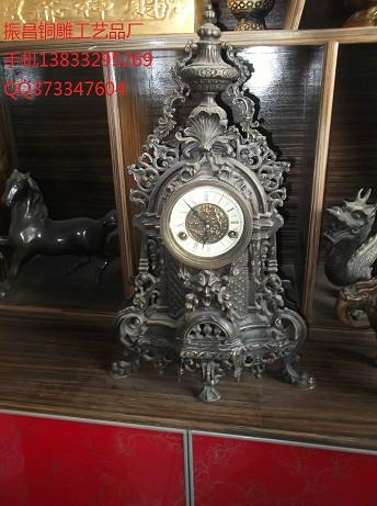供应铜雕工艺钟