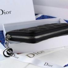 供应新款DIOR迪奥女士钱包链条羊皮菱格长款钱包1105