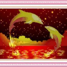 供应海豚钻石画