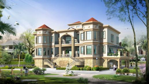 二层别墅房屋自建房 住宅 楼房 设计 图纸效果图全套cad-二层住宅设计图图片