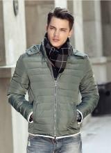 供应男装羽绒服棉服新款冬装外套修身棉衣棉袄批发