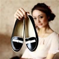 供应简约时尚大方蝴蝶结舒适低跟休闲单鞋护士鞋工作鞋批发批发