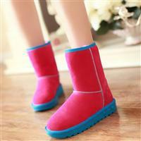 供应爱创赢2013韩版雪地靴平底防滑孕妇鞋厚毛保暖中短女靴