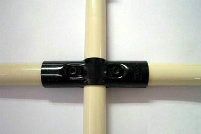 线棒连接件HJ-4供应用于三根柔性管组合成十字形结构