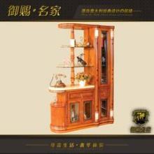御赐名家豪华欧式客厅间厅柜 进口米黄玉台面间厅柜 实木储物柜