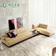 林氏木业品牌时尚真皮沙发图片