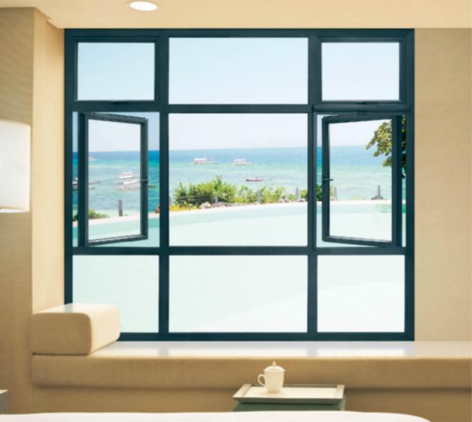 铝合金平开门窗图片/铝合金平开门窗样板图 (1)