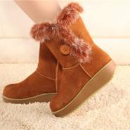 兔毛雪地靴棉鞋图片