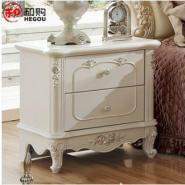和购法式家具田园收纳柜实木柜子欧式床头柜简约特价床头柜F