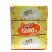 供应清风抽纸花韵抽取式面纸206192mm2层200抽3包