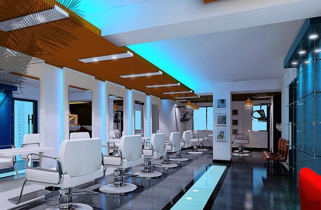 石嘴山小型美发店装修图图片