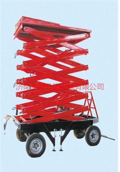 供应四轮剪叉升降平台 固定剪叉式升降机 导轨式升降货梯 铝合金升降机