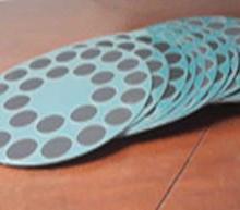 供应光电行业用吸附垫抛光布无蜡贴图片