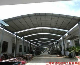 供应雨棚活动房彩钢瓦透明板  公   司: 上海鸿贸钢结构工程有限公司