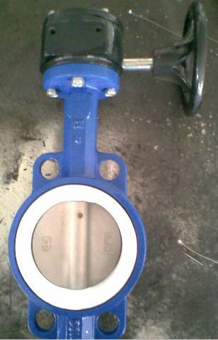 d371f4-16c涡轮对夹式衬氟蝶阀图片大全图片