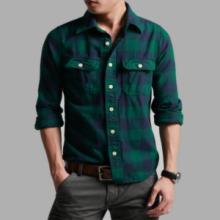 男装高品质法兰绒磨毛加厚美式休闲纯棉长袖格子衬衫批发