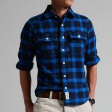 男装法兰绒磨毛男衬衣加厚休闲纯棉长袖格子衬衫批发