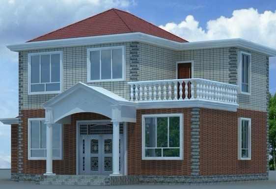 二层别墅房屋自建房住宅楼房设计图纸效果图全套cad施工图003