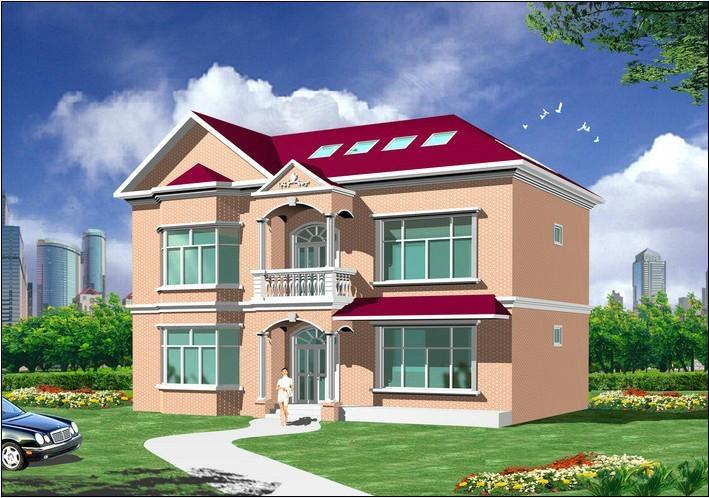 二层别墅房屋自建房住宅楼房设计图纸效果图全套cad施工图纸054