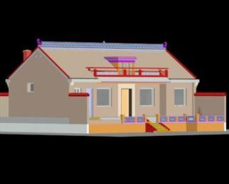 结构形式:砖混结构;  设计功能:  一层:厨房,餐厅,客厅,火炕,3间主图片