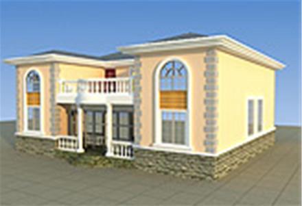 供应两层房屋自建房住宅楼房建筑施工图二层房屋楼房设计图施工图059