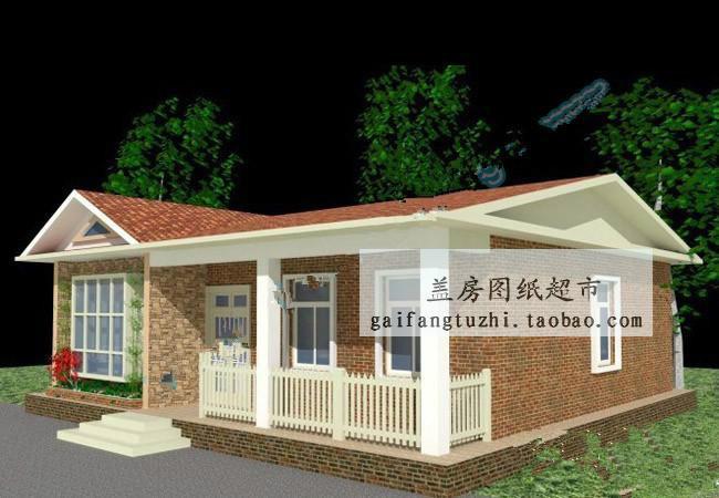 平房自建房设计图带效果图一层房屋cad求农村自建房设计图二高清图片