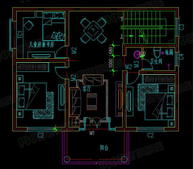 自建房住宅楼房设计图纸效果图全套cad施工图纸010