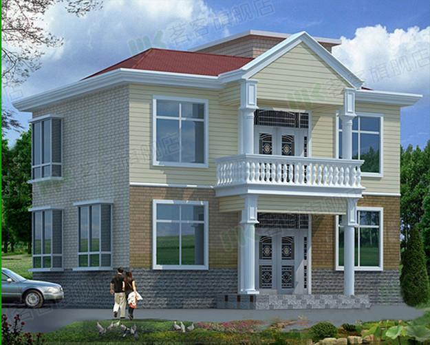 二层别墅房屋自建房住宅楼房设计图纸效果图全套cad施工图纸010
