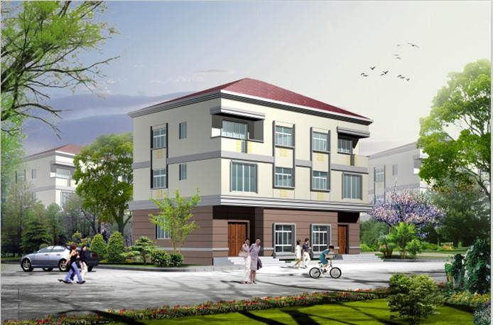 双拼联排三层别墅设计图效果图三层自建房房屋全套施工图纸057